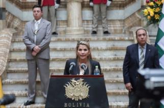 """Jeanine Áñez: """"Morales no podrá presentarse a las elecciones, busquen otro candidato"""""""