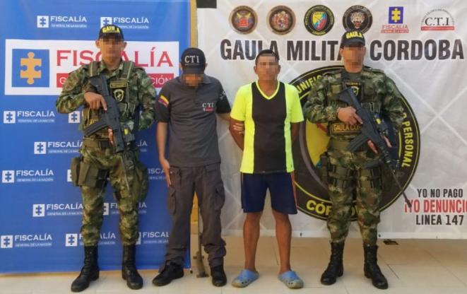 Alias 'Verdura' fue capturado en un operativo conjunto entre el Ejército, la Policía y la Fiscalía