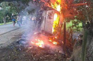 Identifican al segundo hombre que murió quemado en el accidente Montelíbano-La Apartada