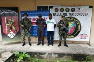 Alias 'Edwin', integrante del Clan del Golfo, fue capturado en Montería