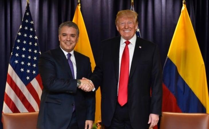 Presidente Iván Duque y su homólogo Donald Trump