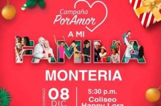 'Por amor a la familia', la campaña que traerá la magia de la navidad a Montería