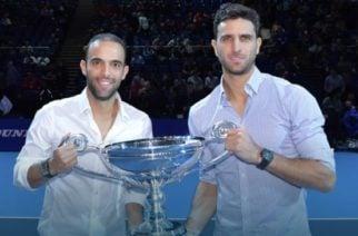 Mejor dupla del año, el trofeo que recibieron Cabal y Farah en el Torneo de Maestros