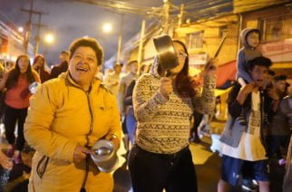 Histórico cacerolazo cerró jornada de marchas en Colombia