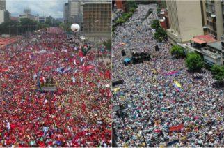Tensión en Venezuela: Opositores y chavistas con mensajes fuertes se encuentran en las calles para defender sus posiciones