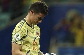 Otra vez fuera del campo: James se lesionó y no jugará ante Perú