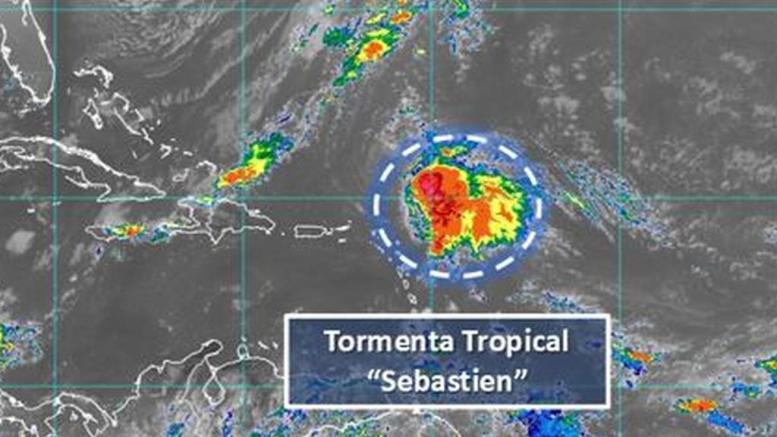 Sebastián podría tomar más fuerza y llegar a huracán la noche de este jueves