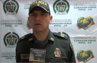 Coronel Correa cesa funciones como comandante de la Policía Metropolitana de Montería