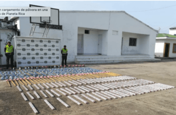 Policía incautó 238 kilos de pólvora que se encontraban dentro de una vivienda en Planeta Rica