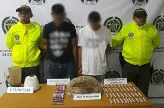 Les cayó la ley: Policía capturó a dos hombres dedicados al narcotráfico en Montería