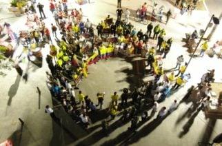 En Montería ciudadanos realizaron acto simbólico en apoyo a la Fuerza Pública