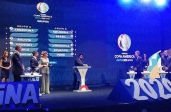 Vea los grupos: Así se jugará la Copa América 2020