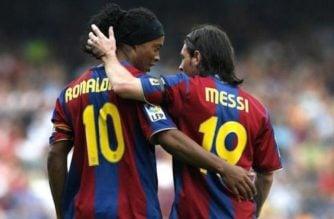 """""""No puedo decir que Messi sea el mejor de la historia"""": Ronaldinho"""