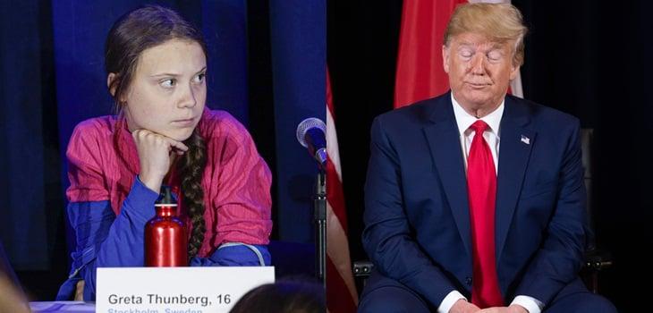 """Trump está ardido, criticó nombramiento de Greta Thunberg como """"persona del año"""""""