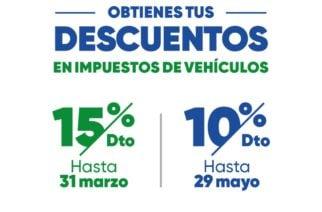 Descuento del 15% y 10% por pronto pago en impuestos de rodamiento para vigencia 2020