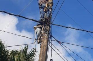 Capturan en Cereté a dos sujetos que manipulaban redes eléctricas