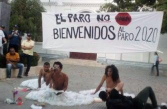 Con obra cultural y cacerolazo se unieron al llamado a paro nacional en Montería
