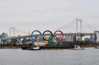 Tokio se prepara para los juegos: los anillos olímpicos llegaron a la ciudad