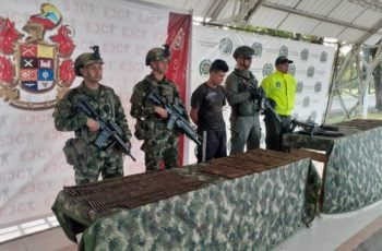 Ejército incautó material de guerra en el Urabá y capturó a alias Alexander