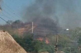 Atención: Reportan incendio en el cerro El Salvador en Ciénaga de Oro