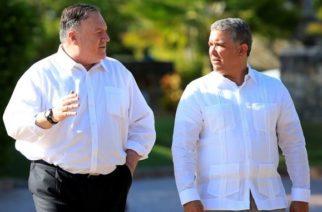 Visita del secretario de Estado de Estados Unidos, Mike Pompeo, en Colombia
