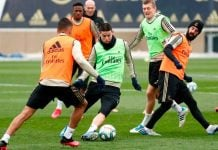 James Rodríguez entrenando