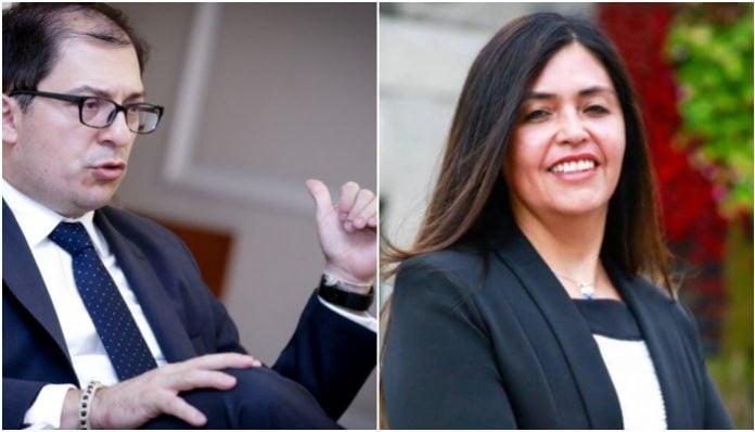 Francisco Barbosa y Claudia García
